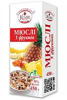 Козуб Мюслi 5 фруктiв 450г