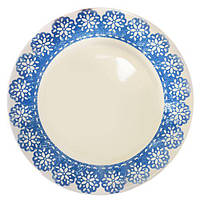 Тарелка 120939-08 керамика, 20см, белая с рисунком, блюдо круглое, тарелки, столовая посуда, посуда, столовая тарелка