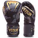 Перчатки боксерские PU на липучке VENUM IMPACT BO-0870 (р-р 8-12oz, черный камуфляж), фото 2