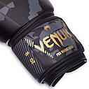 Перчатки боксерские PU на липучке VENUM IMPACT BO-0870 (р-р 8-12oz, черный камуфляж), фото 3