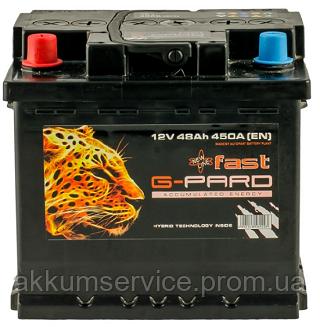 Аккумулятор автомобильный Fast G-Pard 48AH L+ 450A (TRC048-F01)