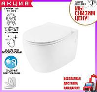 Унитаз подвесной безободковый Clean Pro Devit Acqua 3020155 с сиденьем soft-close