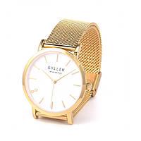 Жіночі годинники наручні Gyllen №3194 рожеві, кварц, від батарейок, стрілочні, метал, Годинники жіночі, Наручний жіночий годинник