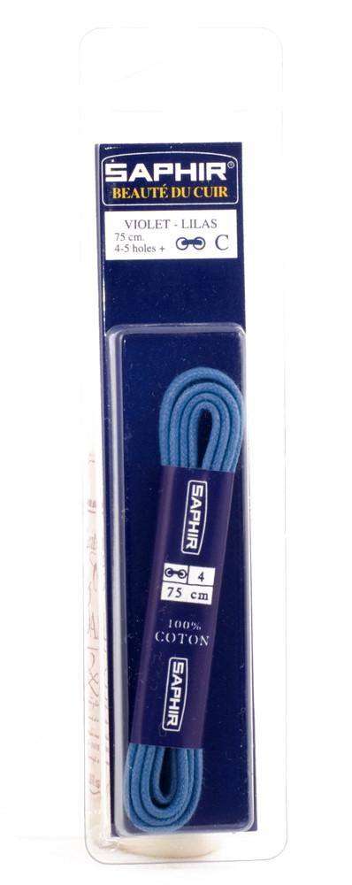 Saphir шнурки тонкие / вощенные / фиолетовые 75 см