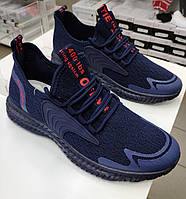 Кроссовки  мужские текстильные синие Violeta размеры в наличии 41;45;