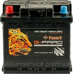 Аккумулятор автомобильный Fast G-Pard 55AH R+ 480A (TRC055-F00)