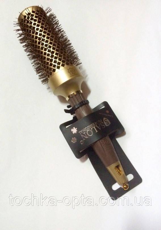 Брашинг для волос керамический  SALON ion Gold 45