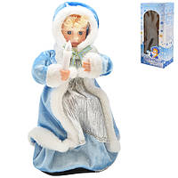Снегурочка B00421 пластик, 30см, музыка, свет, движение, новогодние украшения, елочные игрушки, новогодние игрушки, новогодний декор