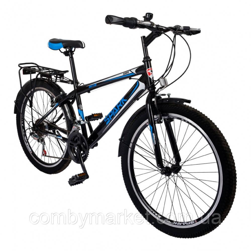 Велосипед Spark Sail TV24-15-18-002 чорний/синій, Безкоштовна Доставка