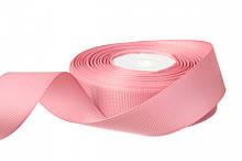 Репс однотонний бобіна. Колір рожевий. Ширина 2.5 см