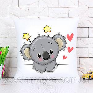Дитяча подушка Коала з сердечками