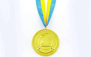 Медаль спортивная с лентой CELEBRITY d-6,5см C-6400 (металл1-золото, 2-серебро, 3-бронза, d-6,5см, 38g)