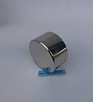 Неодимовый магнит хром 45мм/25мм N 80 кг, фото 1