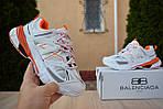 Женские кроссовки Balenciaga Track (бело-оранжевые) 2888, фото 2