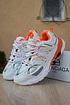 Женские кроссовки Balenciaga Track (бело-оранжевые) 2888, фото 5