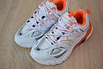 Женские кроссовки Balenciaga Track (бело-оранжевые) 2888, фото 7