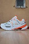 Женские кроссовки Balenciaga Track (бело-оранжевые) 2888, фото 9