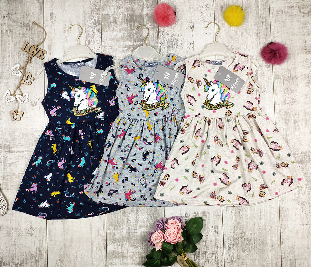 Платья детские летние трикотажные Flover 1131