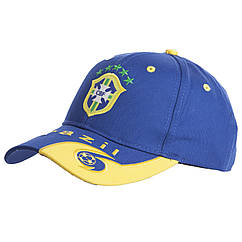 Кепка футбольного клуба BRAZIL CO-0798 (хлопок, синий-желтый)