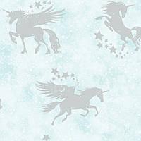 Iridescent Unicorns Teal_Silver, фото 1