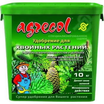Удобрение для хвои Агрекол/ Agrecol,10 кг — обеспечивает правильный рост, интенсивное развитие