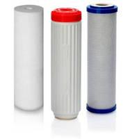 Комплект сменных картриджей для фильтра по очистке воды Аквафор Трио Норма Умягчающий ( Ж )