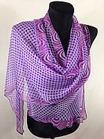 Молодежный легкий шарф(Углы по косой) (цв 14)