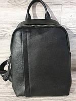 Рюкзак кожаный женский чёрного цвета