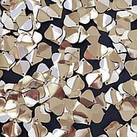Пайетки Индия. Листочки 15х15 мм. Бледно-золотой. Упаковка 5 гр.