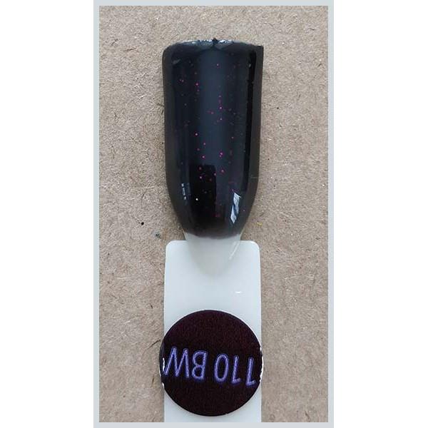 Гель-лак Kodi Professional 110BW, Чорний з рожевим шиммером, крем