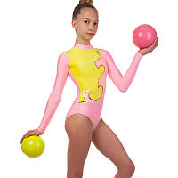 Купальник гимнастический для выступлений детский SP-Planeta DR-1405 (RUS-32-38, рост-122-152см, цвета в ассортименте)