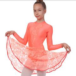 Платье рейтинговое (бейсик) с длинным рукавом и гипюровыми вставками SP-Planeta DR-1641 размер 32-42, рост 122-164см цвета в ассортименте