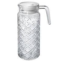 Графин Carnation MS-2688 стеклянный, с пластиковой крышкой, 1л, стеклянная посуда, кувшин, графины, посуда, посуда для напитков