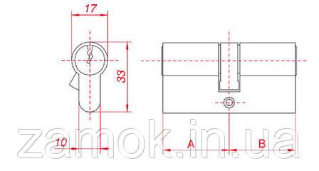 Циліндр Gamet 51*51 6 ключів, фото 2