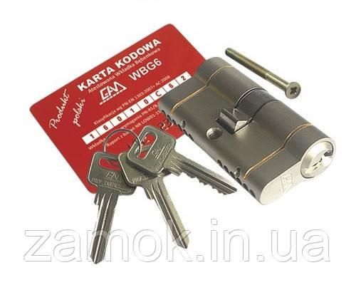 Циліндр Gamet 36*36 6 ключів