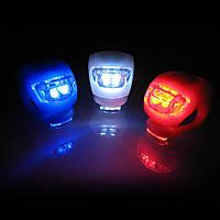 Ліхтарик велосипедний hj008-2, 2 LED діода, 3 режими світіння, різні кольори, пластик, ліхтар для велосипеда, фара велосипедна