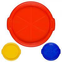 """Поднос """"Шар"""" PT-70917, круглый, 35см, пластиковый, разнос кухонный, разные цвета, разносы кухонные, разнос пластиковый, разнос пластик"""