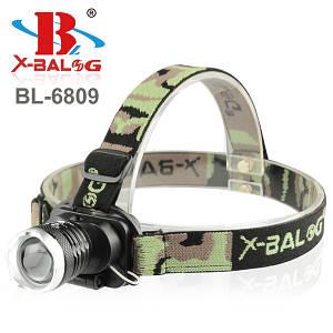 Налобный фонарик Bailong Police BL-6809, (Оригинал)