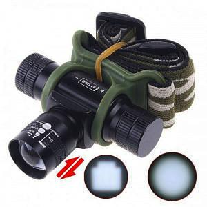 Налобный фонарик Bailong Police BL-6660 + Камуфляжный чехол, (Оригинал)