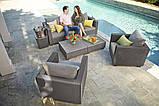 Диван садовый Allibert by Keter Salta 3-Seater Sofa Cappuccino ( капучино ) из искусственного ротанга, фото 9