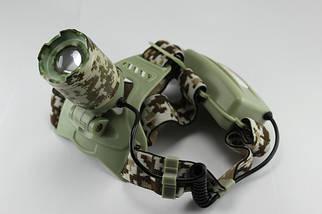 Налобный фонарик Bailong BL-003-T6-Army, (Оригинал)
