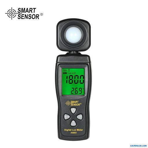 AS803 люксметр с функциями измерения температуры