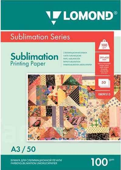 Бумага для сублимации Lomond А3 100 гр 50 листов
