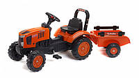 Детский трактор на педалях с прицепом Falk 2065AB KUBOTA