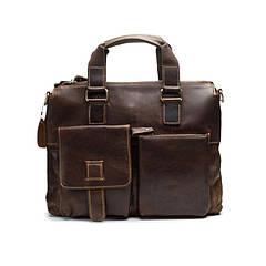 Чоловіча шкіряна сумка портфель Marrant  коричневий