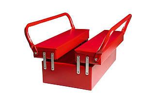 Ящик для инструмента Mastertool - 430 мм x 3 секции, металлический (79-4303), (Оригинал)