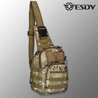"""🔥 Тактическая сумка """"Esdy - EDC"""" (multicam) однолямочный рюкзак, зсу, полиции, нацгвардии"""