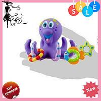 """Игрушка для купания """"Осьминог-кольцеброс"""" NUBY HS 6301   детский набор для ванной! Топ продаж"""