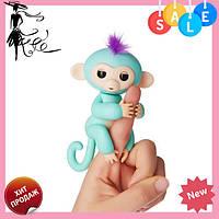 Интерактивная ручная обезьянка Fingerlings Happy Monkey Bella БИРЮЗОВЫЙ! Топ продаж