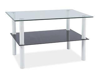 Стеклянный журнальный столик Doris